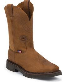 Justin Men's Plenum Western Work Boots, , hi-res