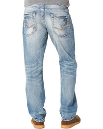 Silver Men's Indigo Eddie Relaxed Fit Jeans - Tapered Leg , Indigo, hi-res