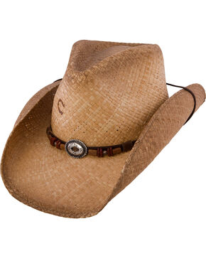 Charlie 1 Horse Great Divide Straw Cowgirl Hat, Tea, hi-res
