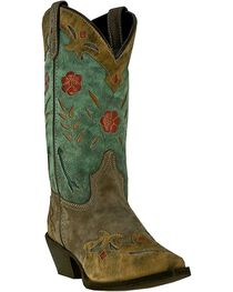 Laredo Women's Floral Western Boots, , hi-res