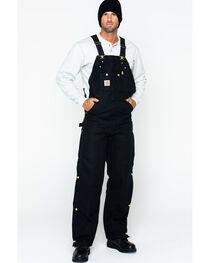"Carhartt Quilt Lined Duck Bib Overalls - Reg, Big. Up to 50"" waist, , hi-res"