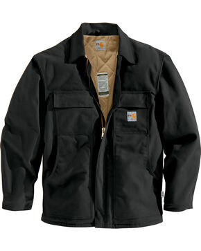 Carhartt Flame-Resistant Duck Traditional Coat - Big & Tall, Black, hi-res