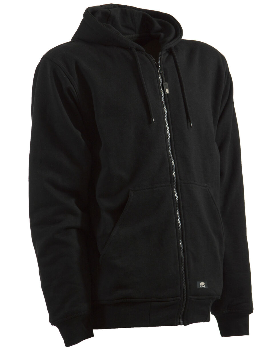 Berne Original Hooded Sweatshirt - 5XL and 6XL, Black, hi-res