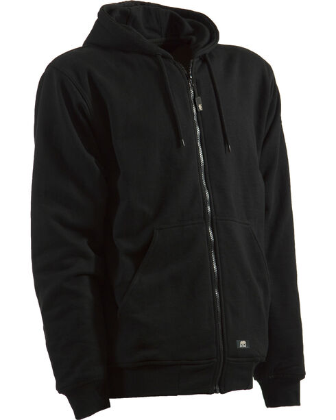 Berne Black Original Hooded Sweatshirt - 3XT and 4XT, Black, hi-res
