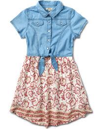 Silver Girls' Coral Denim Top Dress - 4-6X, , hi-res