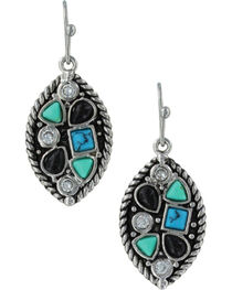 Montana Silversmiths Canyon Colors River Rock Marquis Earrings, , hi-res