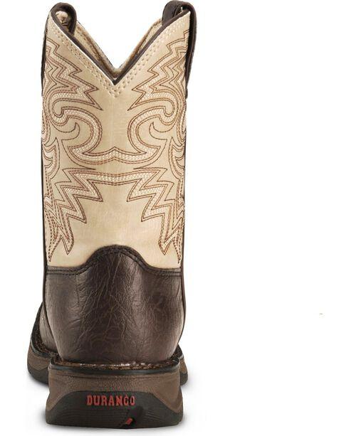 Durango Kid's Rebel Square Toe Western Boots, Brown, hi-res