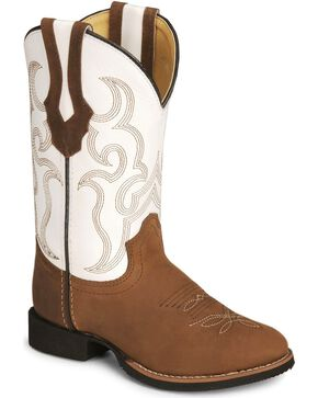 Smoky Mountain Children's Showdown Cowboy Boots, Distressed, hi-res