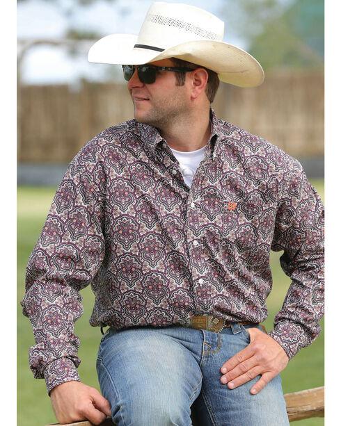 Cinch Men's Multi Print Long Sleeve Shirt , Multi, hi-res