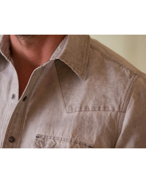 Ryan Michael Men's Patina Pigment Shirt , Grey, hi-res