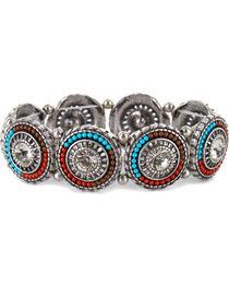 Shyanne® Women's Beaded Pendant Link Bracelet, , hi-res