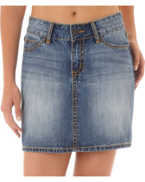 Wrangler Women's Mae Denim Skirt, Blue, hi-res