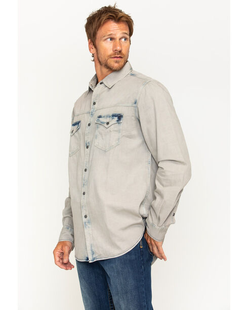 Ryan Michael Men's Indigo Tinted Shirt , Indigo, hi-res