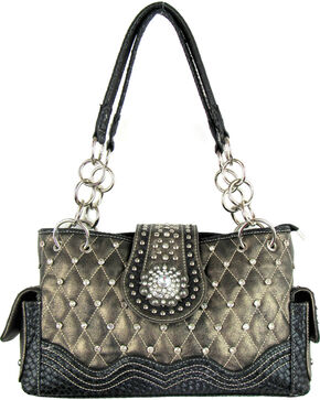Savana Women's Bronze Concealed Carry Quilted Handbag, Bronze, hi-res