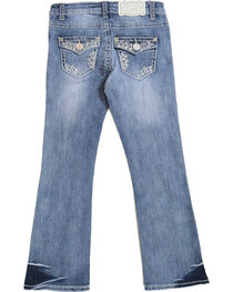Shyanne® Girls' Stars and Rhinestones Boot Cut Jeans, , hi-res