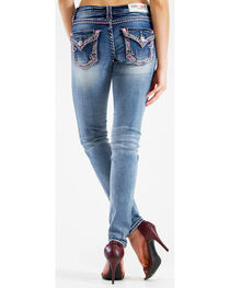 Grace in LA Women's Colorful Embroidered Skinny Jeans  , , hi-res