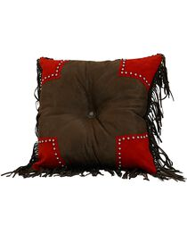 HiEnd Accents Tooled & Scalloped Decorative Pillow, Multi, hi-res