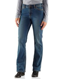 Carhartt Women's Relaxed Fit Medium Indigo Jasper Jeans, , hi-res