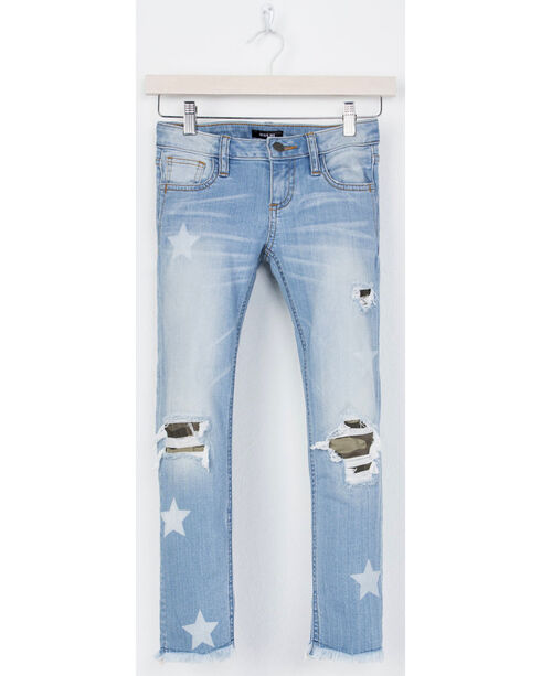 Miss Me Girls' Blue At Attention Ankle Jeans - Skinny , Blue, hi-res