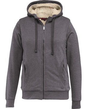 Wolverine Women's Sherpa Lined Hooded Sweatshirt, Dark Grey, hi-res