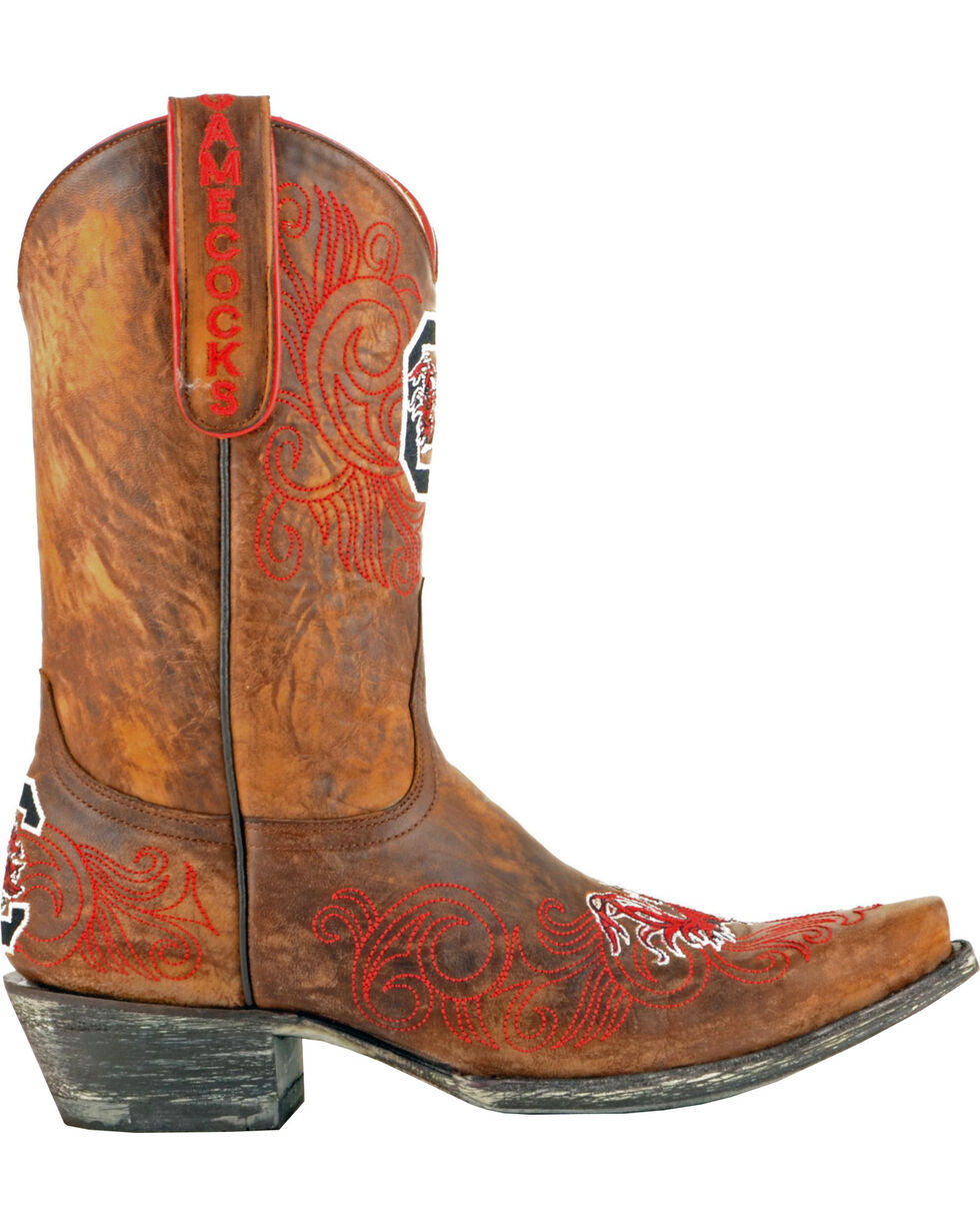 Gameday University of South Carolina Cowgirl Boots - Snip Toe, Brass, hi-res