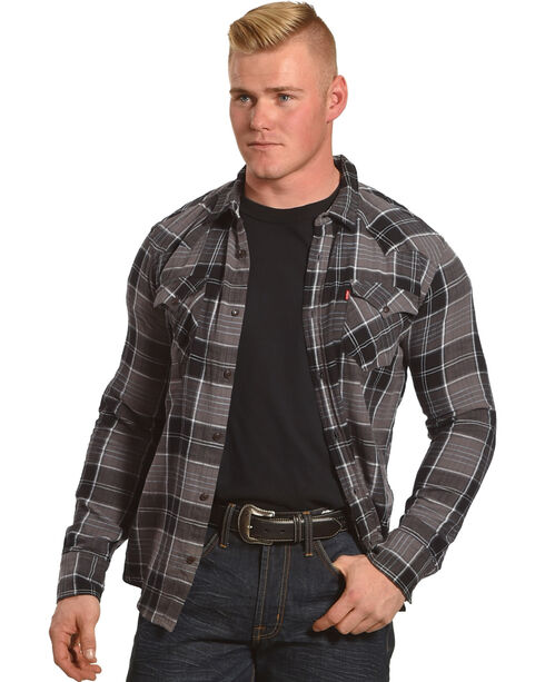 Levi's Men's Long Sleeve Plaid Flannel Shirt, Grey, hi-res