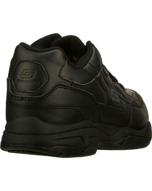 Skechers Men's Black Felton Albie Slip Resistant Work Shoes , Black, hi-res