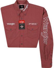 Wrangler Men's Red Logo Long Sleeve Shirt , , hi-res