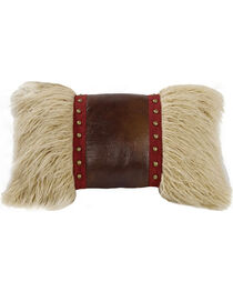 HiEnd Accents Mongolian Fur Throw Pillow, Multi, hi-res