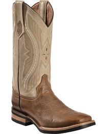 Ferrini Distressed Kangaroo Cowboy Boots - Wide Square Toe, , hi-res