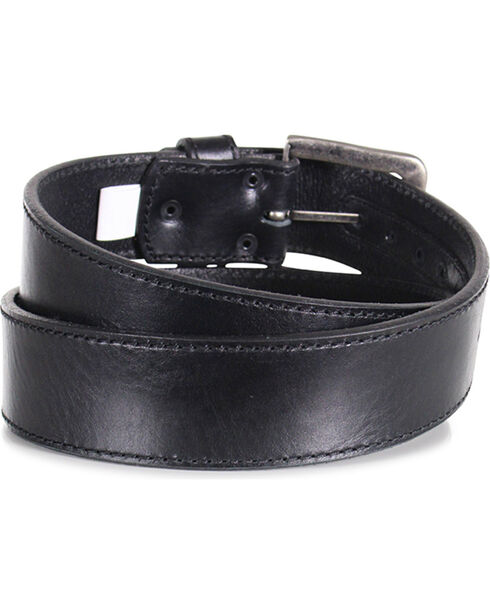 American Worker® Men's Leather Stitch Belt, Black, hi-res