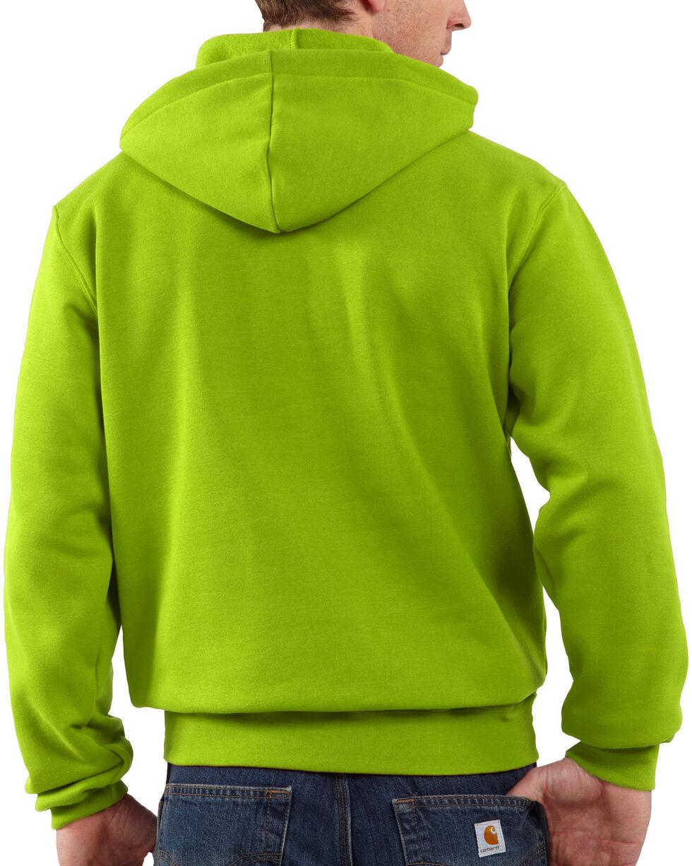 Carhartt Men's Midweight Hooded Logo Sweatshirt - Tall , Green, hi-res