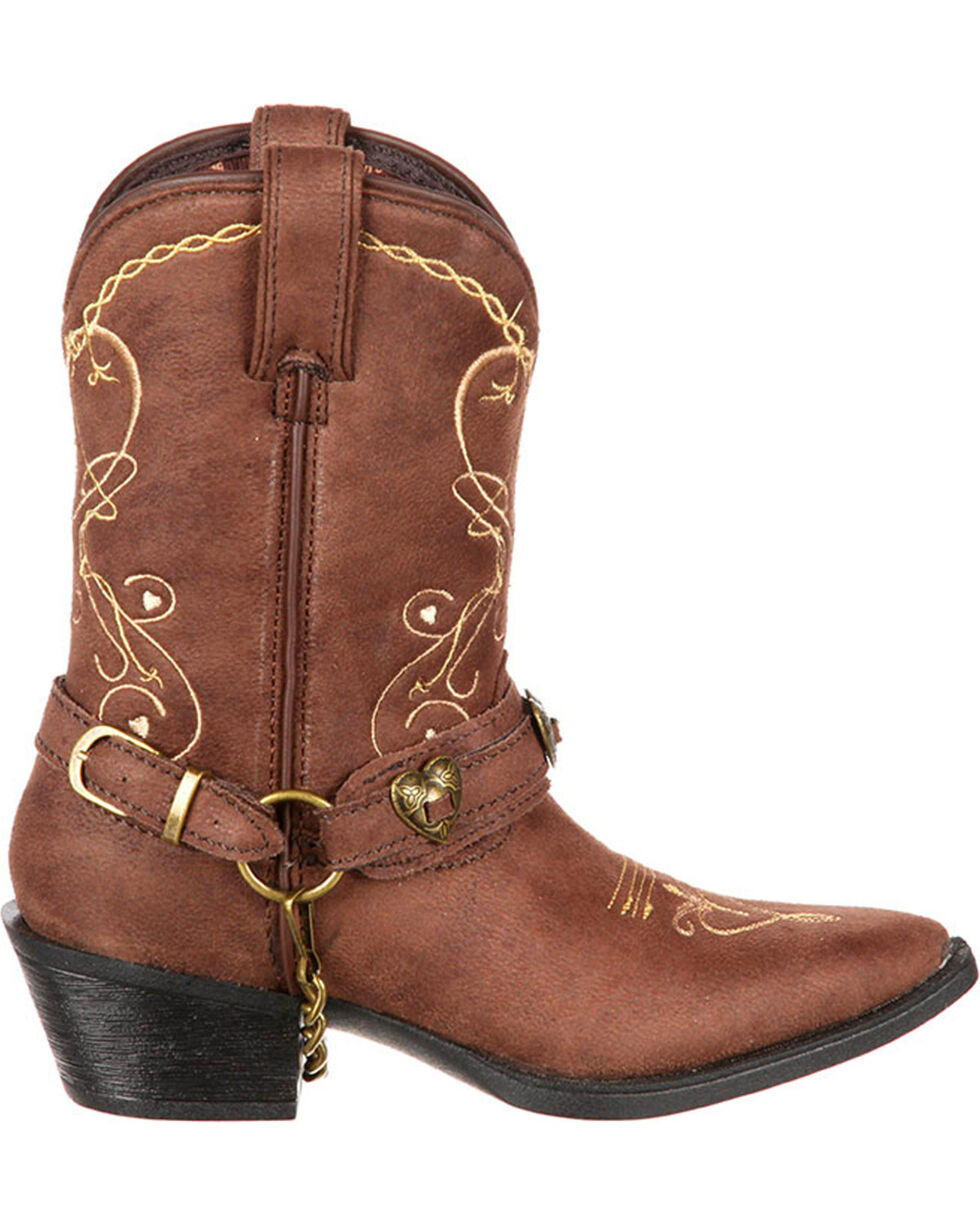 Durango Girls' Heartfelt Western Boots, Brown, hi-res