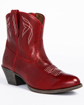 Ariat Women's Darlin Booties, Red, hi-res