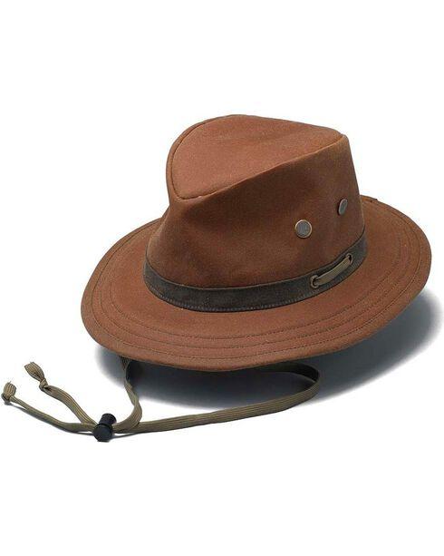 Outback Unisex Oilskin Willis Hat, Tan, hi-res
