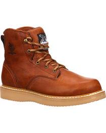 "Georgia Men's Steel Toe Wedge 6"" Work Boots, , hi-res"