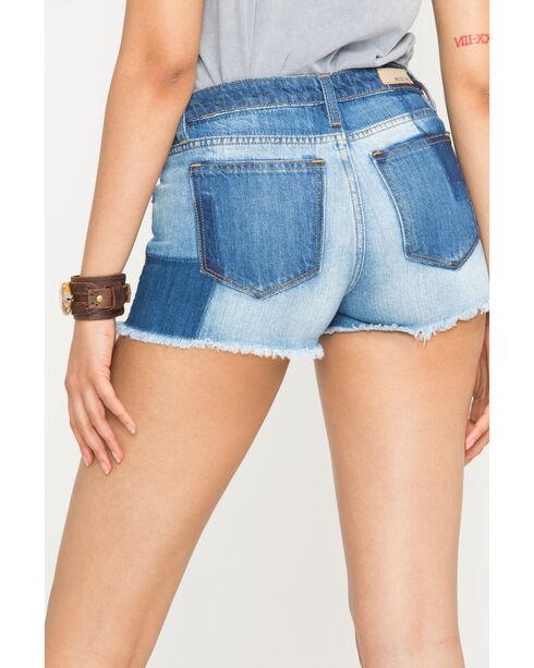 Miss Me Women's Indigo Piece It Together Shorts , Indigo, hi-res
