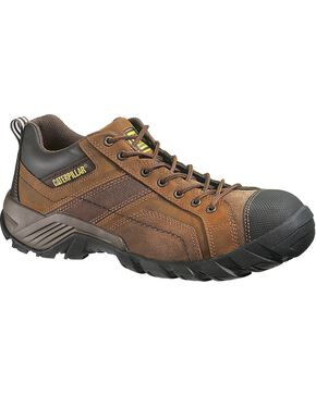 CAT Men's Argon Oxford Work Shoes, Dark Brown, hi-res