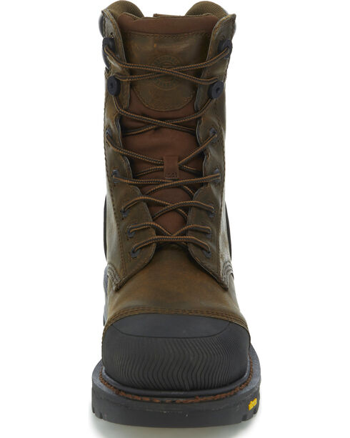 Justin Men's Warhawk Waterproof Composite Toe Work Boots, Brown, hi-res