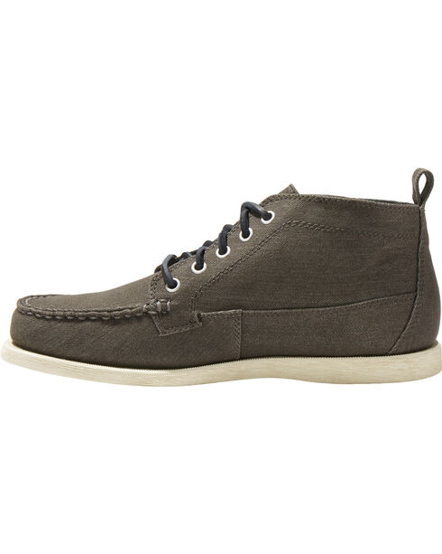 Eastland Men's Seneca Canvas Camp Moc Chukka Boot - Moc Toe , Black, hi-res