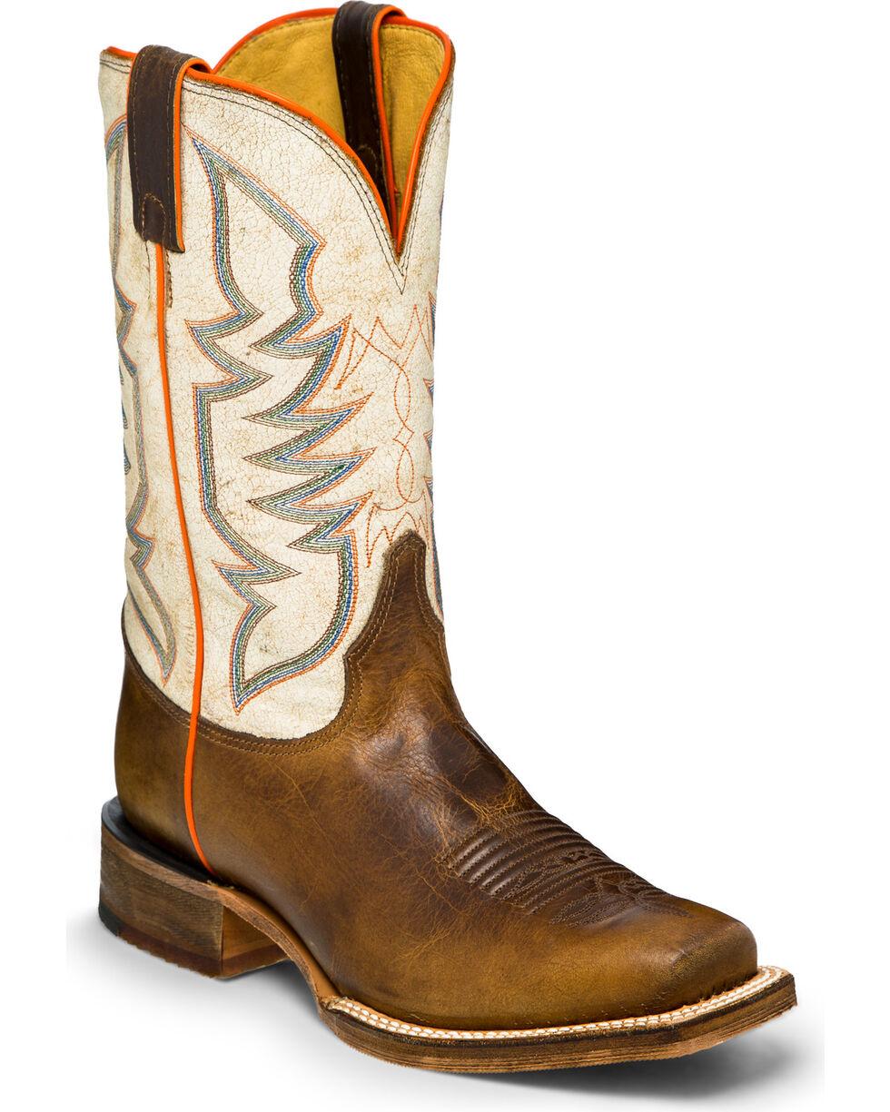 Justin Men's Stone Age Bent Rail Western Boots, Tan, hi-res