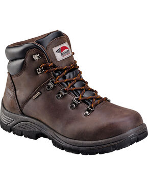 Avenger Men's Waterproof Steel Toe Hikers, Brown, hi-res