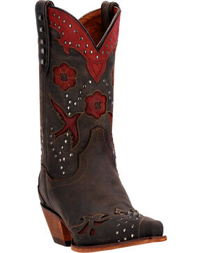 Dan Post Women's Wild Bird Fashion Boots, Chocolate, hi-res