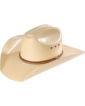 Justin 10X Straw Cowboy Hat, Natural, hi-res