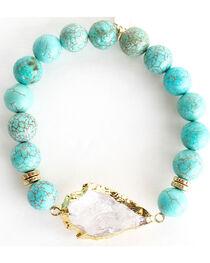 Everlasting Joy Jewelry Women's Turquoise Arrowhead Bracelet , , hi-res