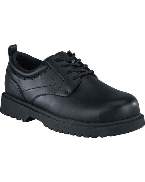 Grabbers Men's Citation Work Shoes - Faux Leather, Black, hi-res