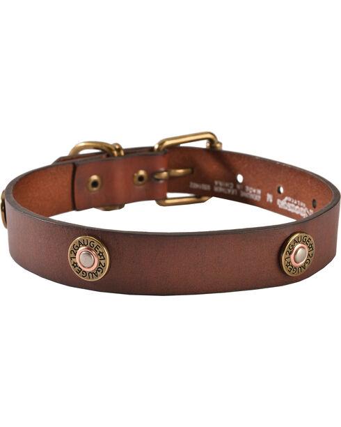 Shotgun Shell Dog Collar - XS-XL, Brown, hi-res