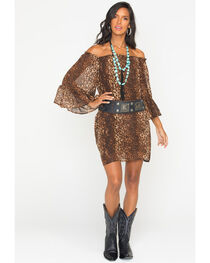 Cowgirl Justice Women's Cheetah Print Dress, , hi-res