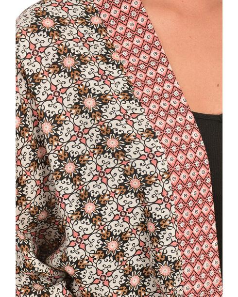 Red Ranch Women's Print Cocoon Top, Black, hi-res