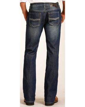 Rock & Roll Cowboy Men's Pistol Small V Stitching Jeans - Straight Leg, Indigo, hi-res